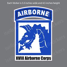 18th Xviii Airborne Corps Fort Bragg Bumper Sticker Vinyl Window Decal