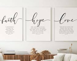 Faith Wall Art Etsy