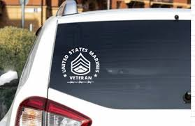 Marine Corps Decal Veteran Staff Sergeant Usmc Military Etsy