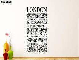 Mad World London Souvenirs Quotes Wall Art Stickers Wall Decal Home Diy Decoration Removable Room Decor Wall Stickers Wall Sticker Decorative Wall Stickerswall Art Stickers Aliexpress