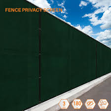 Green 8ft 180gsm Fence Windscreen Privacy Screen Shade Cover Fabric Mesh Garden Ebay