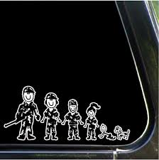 Army Family Car Decal Military Stick People Car Stickers Etsy