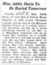 Addie Davis Obituary - Newspapers.com