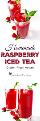 homemade raspberry iced tea spirited
