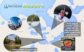 Boating on Lake Ida - Walters Resort