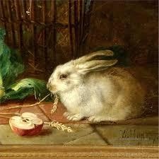 Paintings of 4am192D animal rabbits Art for sale by Artists of Oil Painting  | Rabbit painting, Bunny rabbit art, Rabbit art