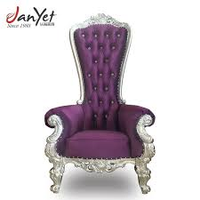 purple leather king throne chair