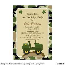 Invitaciones Militares De La Fiesta De Cumpleanos Zazzle Es