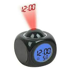 Smart Battery Operated Digital Led Snooze Talking Alarm Clock With Date Time Temperature Voice Led Projection Projector For Heavy Sleepers Bedroom Table Desk Students Office Home Kids Room