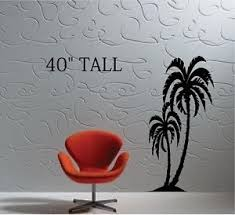 Palm Trees Vinyl Wall Decal Mural Sticker Large Size 40 Tall Ebay