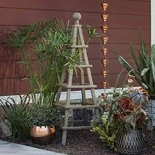 wooden obelisk garden trellis