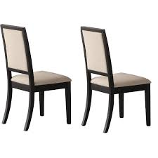 Modern Cream And Black Upholstered Dining Room Chair Set Of 2 Amelia Rc Willey Furniture Store
