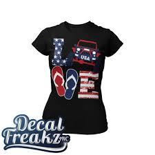 4x4 Usa Love Tank Tee Hoodie With Decal Decal Freakz