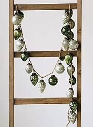 blown glass mercury ornament garland