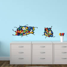Reusable Wall Decals With Lego Inspired Wall Stickers For Children