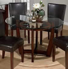 round glass top dining table set room