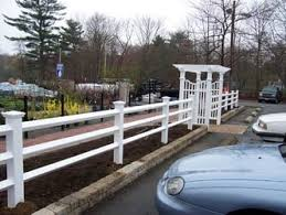 Diamond Post Rail 3 Rail Vinyl Fence With Arbor Avo Fence Supply