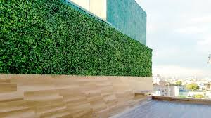 Balcony Terrace Privacy Fence Artificial Hedge Panels Modern Patio Houston By Greensmartdecor