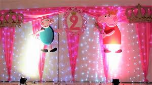 Decoracion De Cumpleanos De Peppa Pig Con Luz Led Youtube