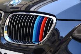 Product Bmw M Colors Kidney Grille Stripes 3 Set Of Stripes Vinyl Decal Sticker