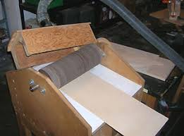diy or homemade drum or thickness sander