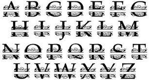 Personalized Custom Vine Split Letter Name Monogram Decal Yeti Cup Tumbler 2 44 Picclick