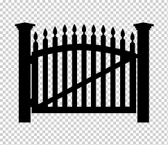 Gate Fence Gate Outdoor Structure Monochrome Home Fencing Png Klipartz