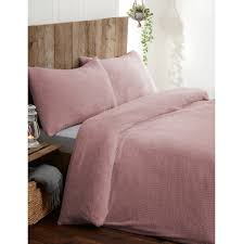 teddy fleece duvet sets at b m