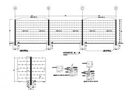 Perimeter Fence Section Plan And Structure Details Dwg File Fence Sections Perimeter How To Plan