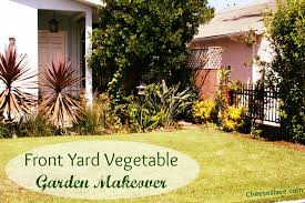 front yard vegetable garden makeover
