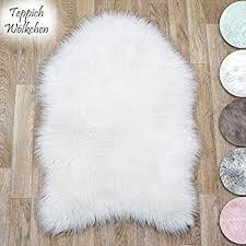 faux sheepskin lambskin fur rug stools