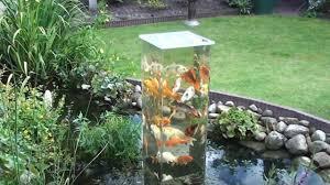 koi observation tower in garden pond