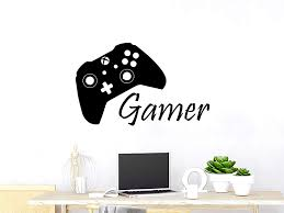 Amazon Com Game Controller Gamer Wall Decal Game Zone Wall Decals Vinyl Stickers Joystick Playing Playstation Game Boy Nursery Kids Playroom Decor C218 Home Kitchen