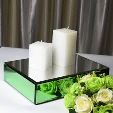 glass mirrored pedestal candle holder
