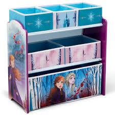 Girls Toy Organizer Disney Mermaid 6 Colorful Storage Bins Kid Bedroom Furniture For Sale Online Ebay