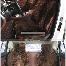 black sheepskin car seat covers