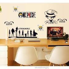 Home Decor Anime Stickers One Piece Wall Stickers Anime Wall Decal Decor Tenn Shopee Malaysia