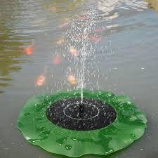 floating lotus leaf fountain water pump