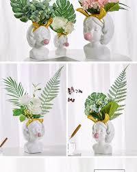 modern water shape ceramic vase for