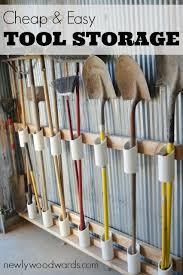 the diy garden tool storage idea that