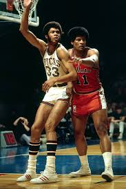 Kareem and Wes Unseld. So 1970's!   Basketball history, Nba legends,  Basketball legends