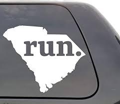 Amazon Com South Carolina Run Decal South Carolina Sc Run Decal State Running Decal Car Decal Yeti Decal Laptop Decal Window Decal Vinyl Decal