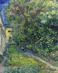 the garden of the asylum at saint rémy