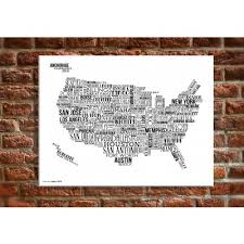 20 x 30 canvas wall art usa map with