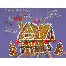 Wallhogs Decorate Me Gingerbread House Wall Decal Walmart Com Walmart Com