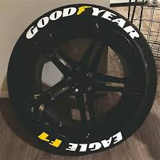 Tire Lettering Good Year Eagle F1 Yellow Permanent Stickers 14 24 Decal 1 25 Ebay