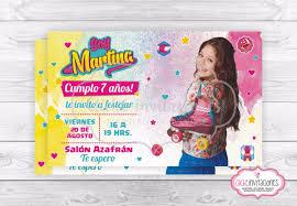 Soy Luna Tarjeta Invitacion Digital Imprimible O Whatsapp 150