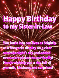 happy birthday sister in law messages