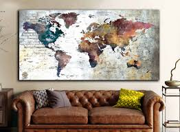 World Map Push Pin World Map Wall Art World Map Canvas World Map Poster World Map Wall Decal World Map Travel World Map Print Custom Map