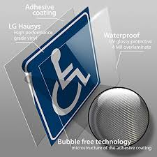Isyfix Handicap Official Blue And Logo Stickers 4 Pack 6x6 Inch Disable Wheelchair Sign Disability Sticker Premium Self Adhesive Vinyl Bubble Free Application Laminated Indoor Outdoor High Quality Nieuw Wasschappelse Oldtimerrit Nl